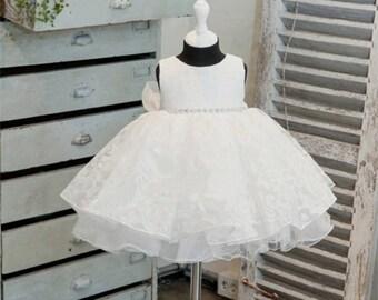 Baby Girl Baptism Christening Dress, Flower girl