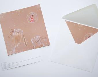 "Card ""Congratulations"" - CAROLINE new"