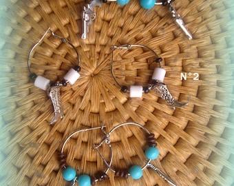 SET of 3 pairs * country hoop earrings