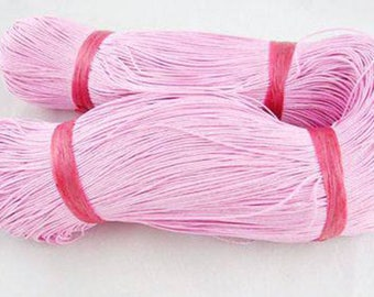 Thread - waxed cotton - 1 mm - pink - x10M