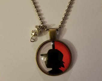 Handmade Ash Shadow Necklace with Pendant
