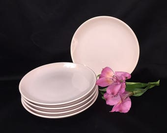 Bread and Butter Plates Russel Wright Iroquois Pink Sherbet - set of 5