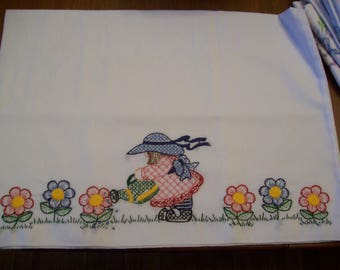 Garden Girl Pillowcases, gift, birthday, holiday, gardener, Mother's Day, girl