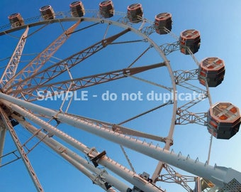 Barcelona Ferris Wheel on the Beach