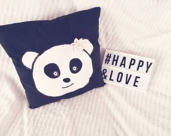Cushion panda children in pre order