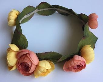Flower Crown - Simple Orange & Yellow Girl's Size 47cm