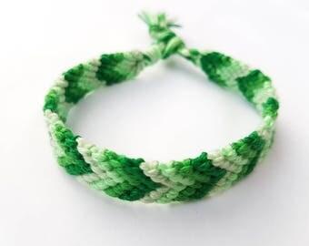 Friendship bracelet - Shades of green