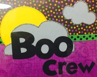 Halloween Boo Crew Paper Die Cut