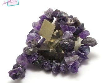 """strand 39 cm approx 44 beads of amethyst """"pebble rondelle raw"""", natural stone"""