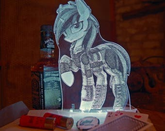 Blackjack (Fallout Equestria: Project Horizons) acrylic nightlight