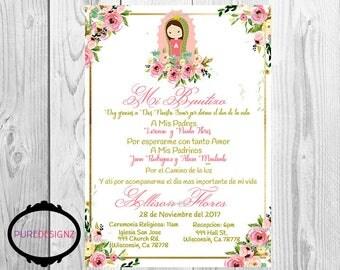 Virgen de Guadaupe Invitations, Virgencita Invitations, Invitaciones Virgencita, Invitaciones Virgen