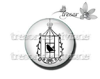 PA446 cabochons glass manual Retro, Cages, birds, Lolita