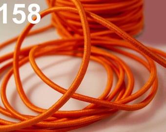 1 m elastic cord orange 3 mm