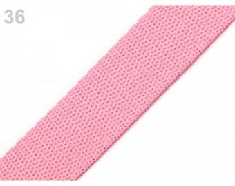 Pink nylon webbing 25 mm 1 meter