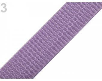1 meter of 20 mm purple nylon webbing