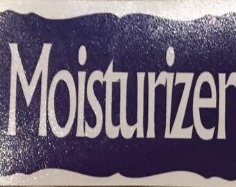 Vinyl Moisturizer Label