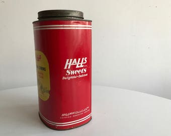 Halls Sweets Container