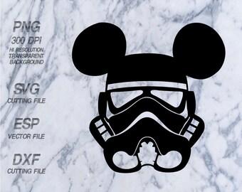 Mickey head trooper    Disney, SVG,Clipart,esp,dxf,png 300 dpi