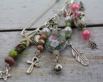 Ornella pin charms and beads