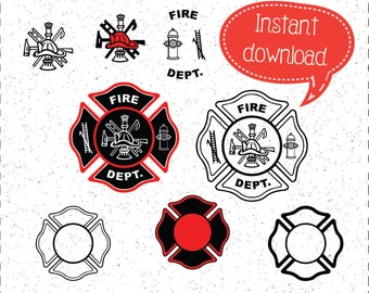 Fire Department SVGs, Fire Dept SVGs, FD SVGs, Fire Departments SVGs, SVGs, Cricut Cut File, Silhouette File