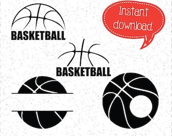 Basketball SVGs, Basketball SVG, Basketball Monograms, Basketball, SVGs, SVGs, Cricut Cut File, Silhouette File