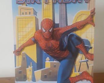 Spiderman birthday card