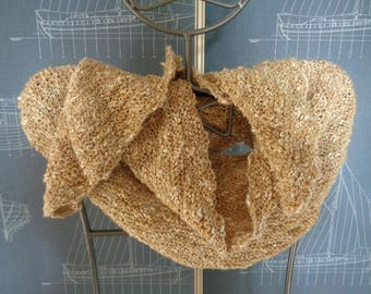 Hand knitted wool scarf