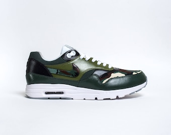 "Custom Nike Air Max 1 ""Green Camouflage"""
