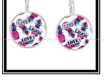 """Live Laugh Love"" earrings"