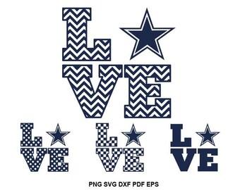Dallas Cowboys svg file, Texas svg files, Cowboys heart svg, Dallas football svg, Cowboys cut files for Silhouette