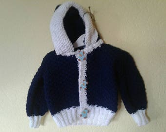 Vest with hood for baby