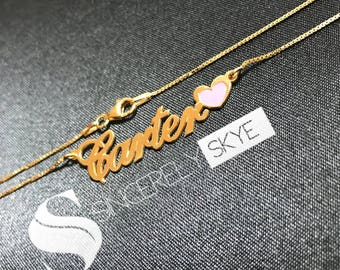 Classic Name Necklace with Heart