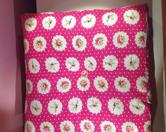 Pink flower tapissier floor cushion