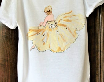 Romantic painted t-shirt