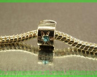 Pearl No. 24 clip stopper European blocker rhinestones for charms bracelet