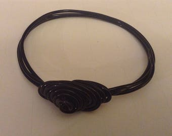 Midnight Rosette 13 Stackable Bangle