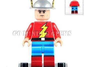 Custom Jay Garrick Flash Minifigure DC Comics Fits Lego UK Seller