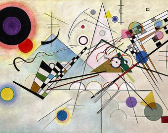 ORIGINAL design, durable and WASHABLE PLACEMAT - Wassily Kandinsky - Composition VIII - classic.