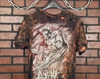 Arkaik-Distressed Vintage Band Tee-Medium-Vintage Concert Shirt-Rock Style-Punk Style-Band Shirt-Concert Shirt-Grunge-Metal Core-Punk Style