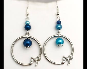 """Earrings """"ocean""""."""