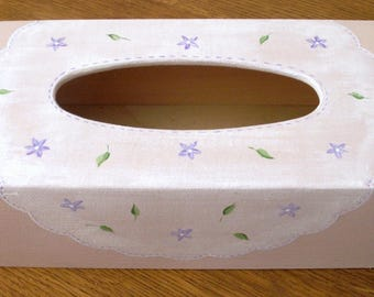 Hand painted decor tissue box