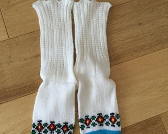 Lovely Wool Knitted Socks - Size 4- 6