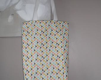 Tote Bag Triangle pattern