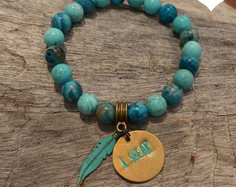 Throat Chakra Healing Bracelet 1