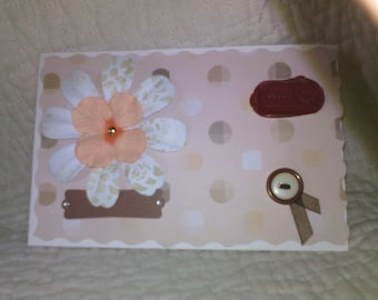 Woman chic and simple birthday card