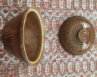Vintage Made in the USA Brown Stoneware