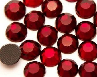 Rhinestones fusible Red 6mm - Pack of 5 rhinestones