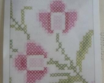 Printed on cotton cross stitch Embroidery pattern