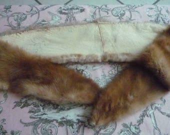 Small Vintage genuine beige fur collar