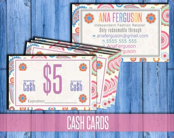 Cash Customer Coupon - Cash Coupon - Customer Gift Certificate -  Cash voucher - reward card- cash cards- Digital - Free personalization!